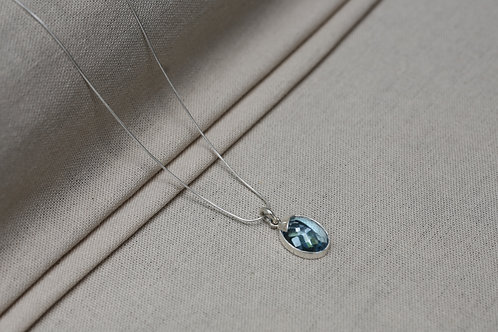 Blue Topaz Necklace Silver