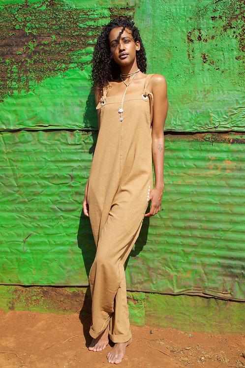 Dungarees Linen Camel