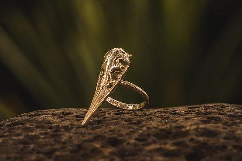 Bird Skull Ring Silver