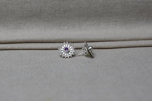 Mandala Earrings Amethyst