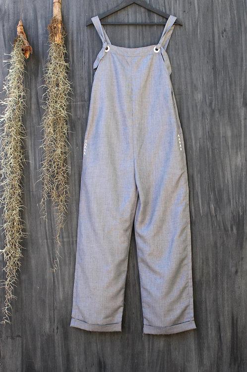 Linen Dungarees Grey