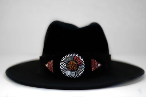 Hat Band Black (W) Ochre