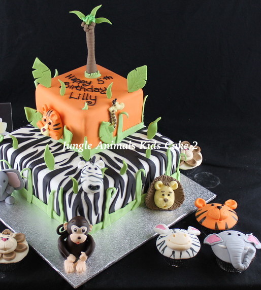 Jungle Animal Kids cake 2