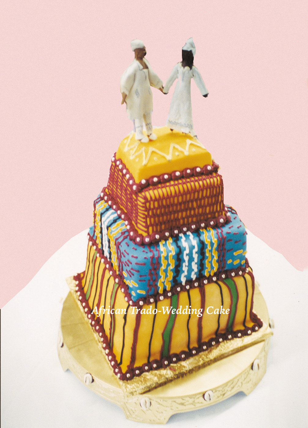 Africa Trado Wedding Cake