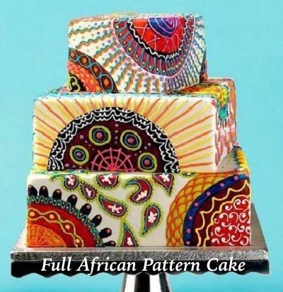 Full African Pattern Cake
