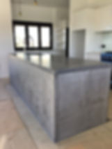 concrete living kitchen bench _completed