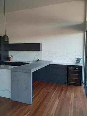 concrete living kitchen bench return_com