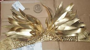 Golden Feather Foam Bodice