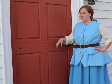 Claire Fraser's Bat Suit Vest & Skirt