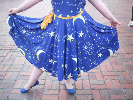 Moons & Stars  Dress Inspired By Sorcerer Mickey