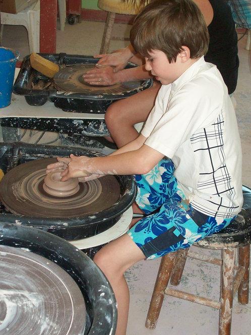 Junior Wheel Throwing Class July 14-18