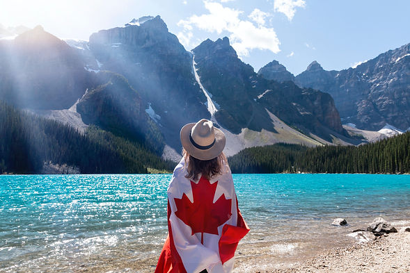 person-with-a-canadian-flag-around-her-s