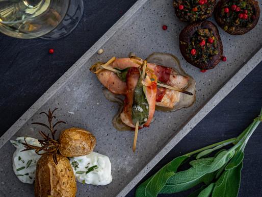 Hähnchenspieße im Saltimbocca Style