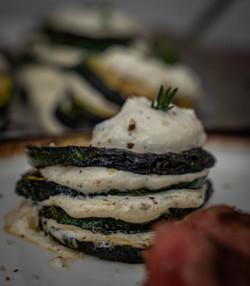 Zucchini-Türmchen mit Ricotta-Creme