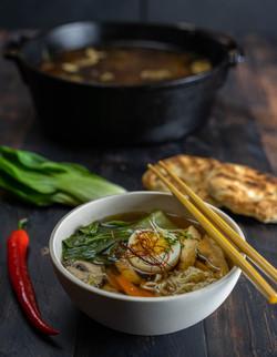 Ramen - Asiatische Nudelsuppe vom Grill