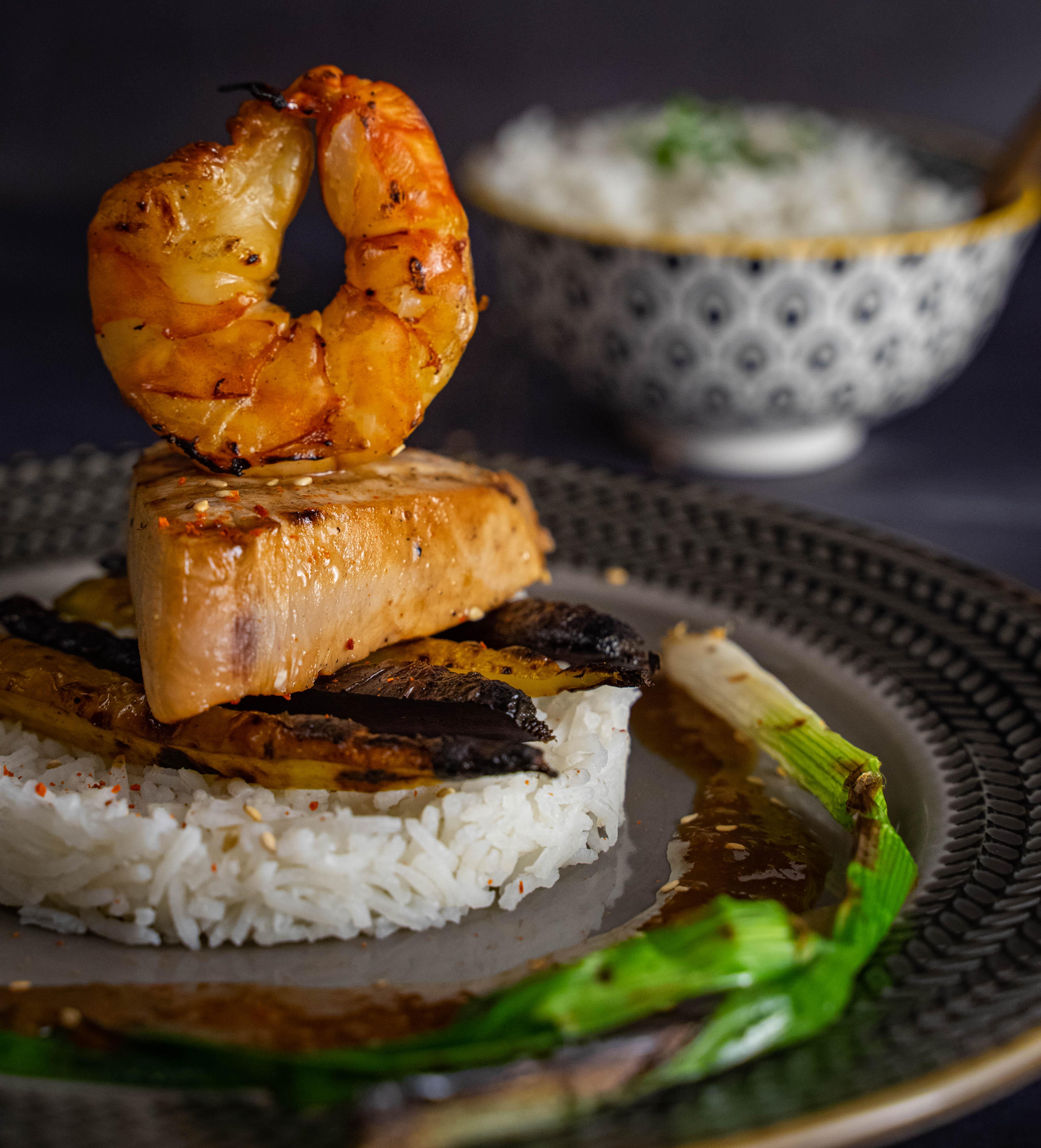 Seafood mit Miso-Limetten-Sauce
