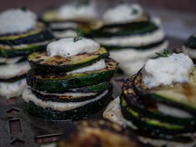 Zucchini-Türmchen mit Ricottacreme