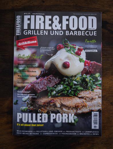 Fire&Food Titelseite