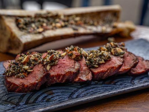 Steak mit Knochenmark-Pesto