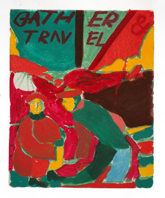 Gather & Travel, 25x20cm oil on canvas