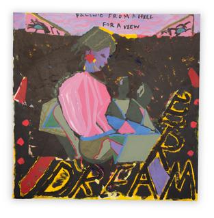 The Dreamer, 110x110cm, acrylic on canvas