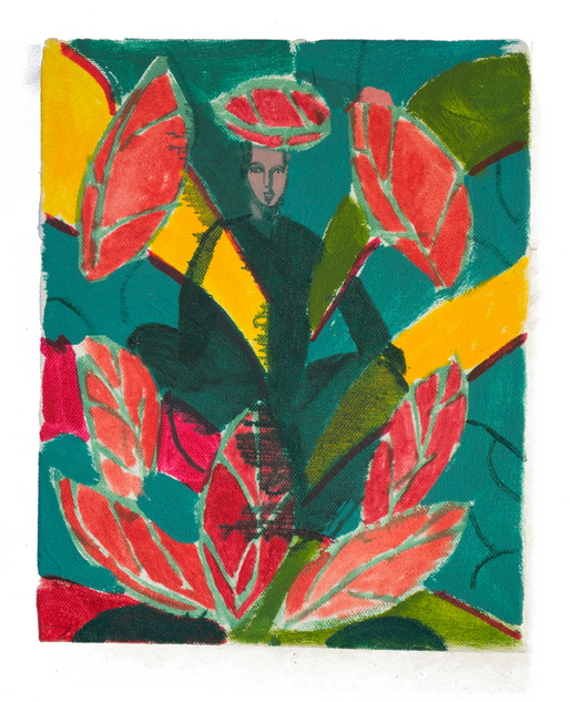 Seated Dancer, 25x20cm oil on canvas