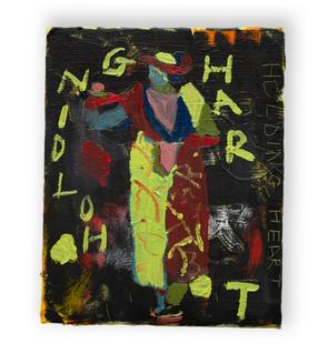 Holding Heart, 25x30cm oil on canvas