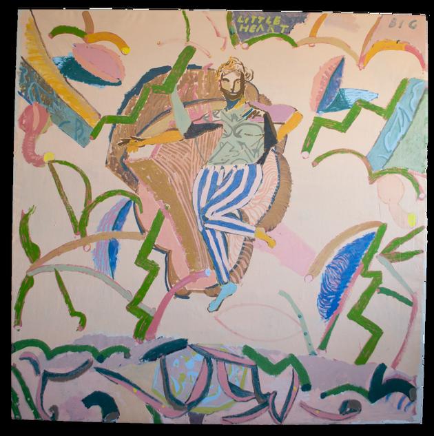 Little Big Heart, 205x205cm acrylic on canvas