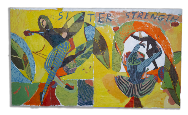 Sister as the Strongest Adjective I Know, 120x205cm acrylic on canvas