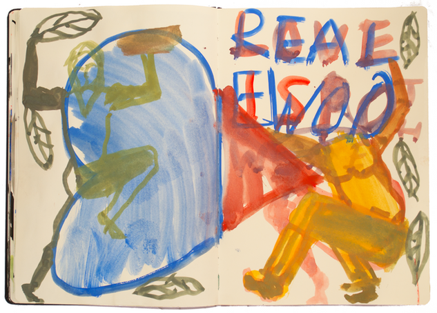 Real Woo, 25x40cm gouache on paper