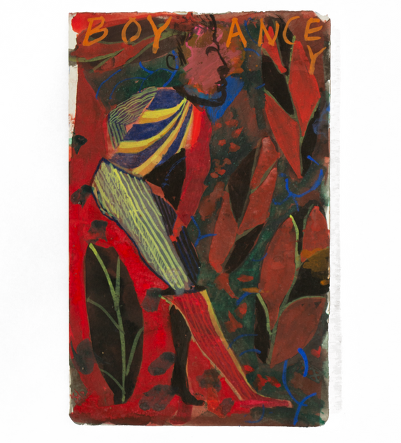 Boy-Ancy, 20x12.5cm gouache on paper