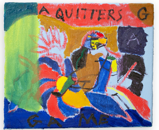A Quitters Game, 25x30cm oil on canvas
