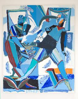 130x105cm acrylic on canvas