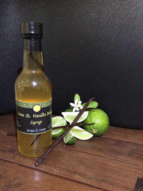Lime & Vanilla Bean Syrup 250ml