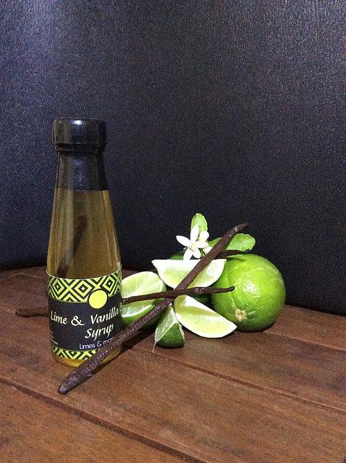 Lime & Vanilla Bean Syrup 100ml