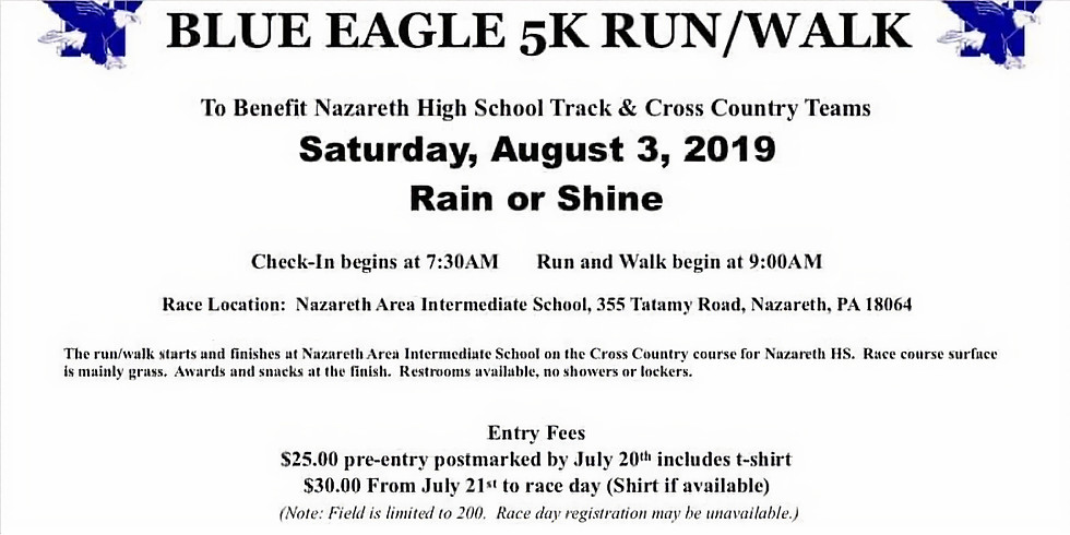 Blue Eagle 5k run/walk