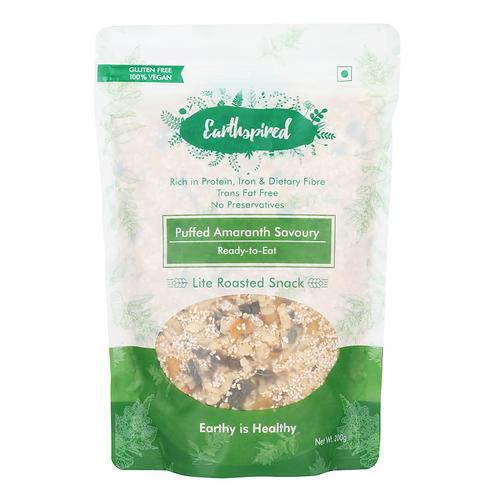 Earthspired Puffed Amaranth Savoury Snack 200 gm