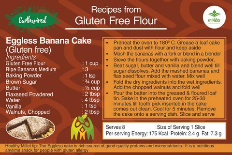 Earthspired Gluten Free Eggless Banana Cake