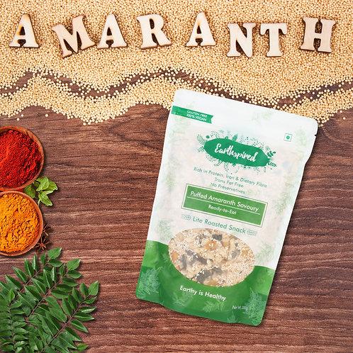 Earthspired Puffed Amaranth Savory Snack 200 gm