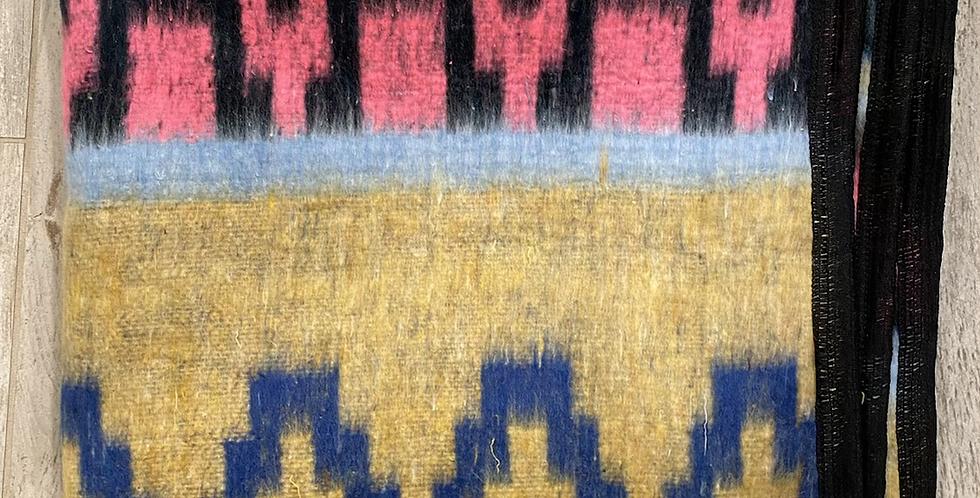 Camp Blanket // Blue, Pink + Mustard