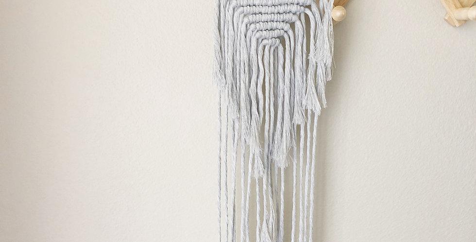 Gray Macrame Wall Hanging // Medium