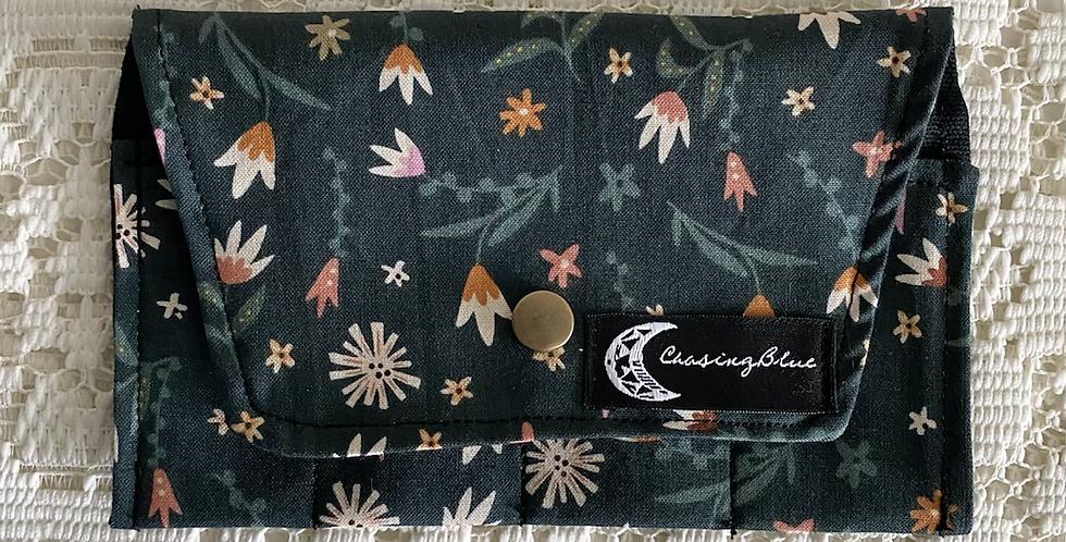 Essential Oil Roller Bag // Green Floral
