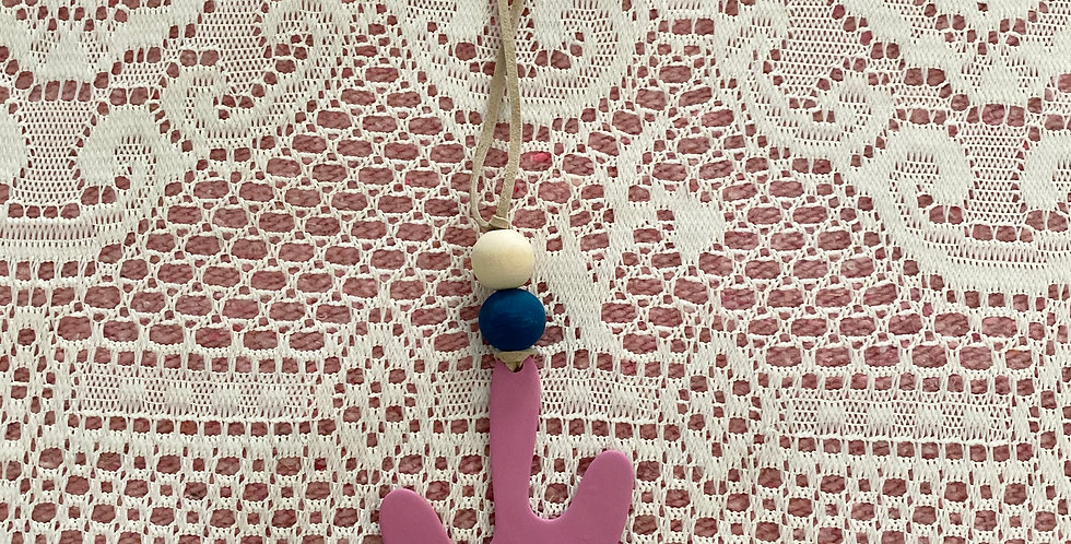 Diffuser Car/ Wall Hanging // Blue Bead