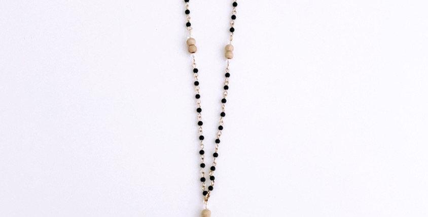 ***PREORDER*** Boho Diffuser Necklace // Black