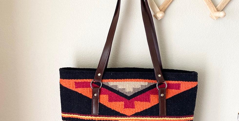 Tribal Purse // Black + Orange