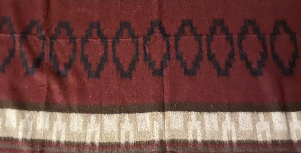 Camp Blanket // Burgundy + Brown