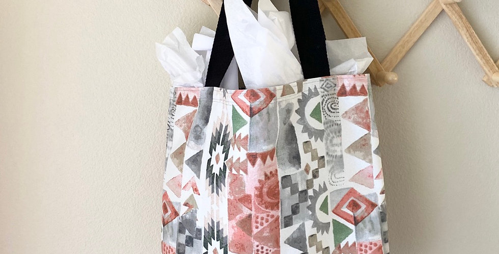 Tote // Pink, White + Gray