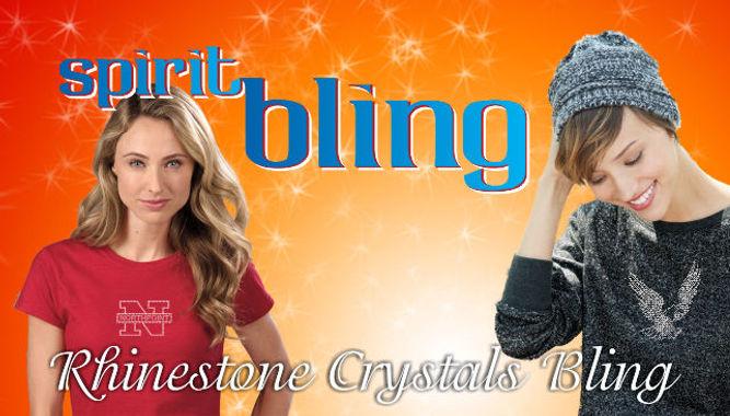 Spirit Bling Rhinestone Crystals T-shirts