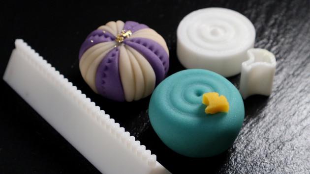 3Dプリント和菓子道具で作る新しい練り切り