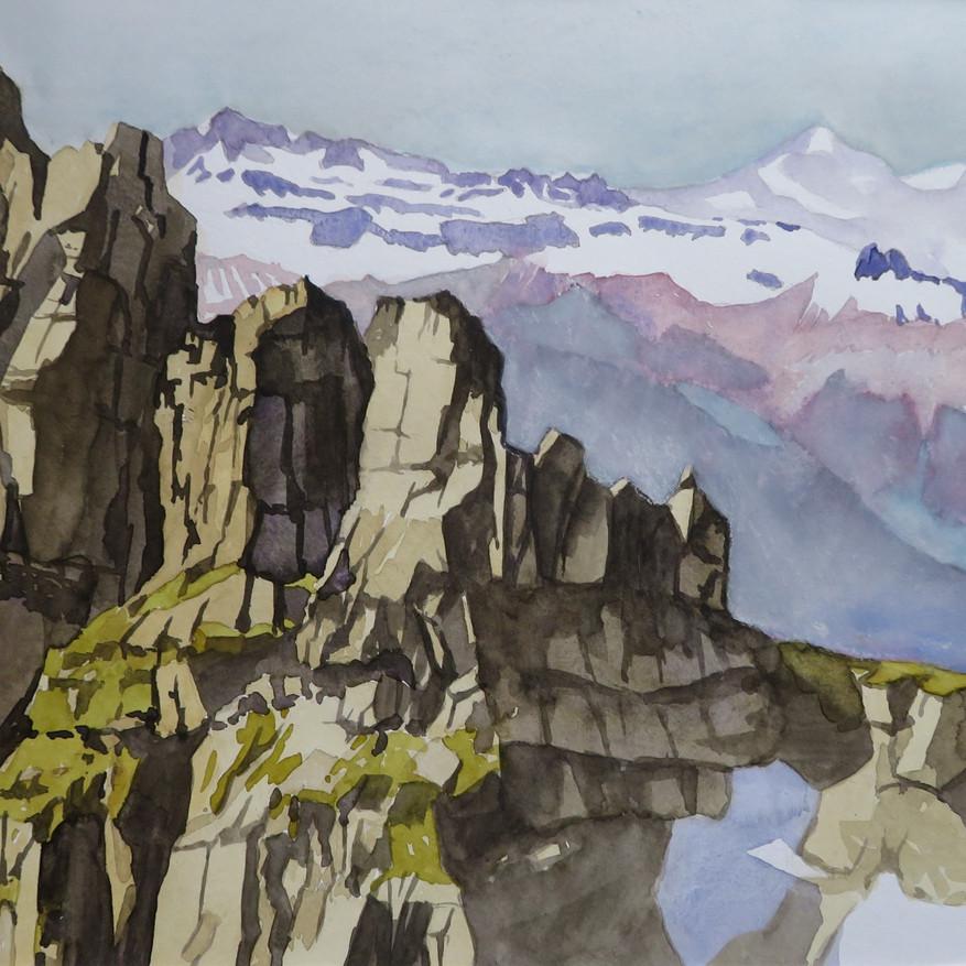 Chilchli am Vorderglärnisch, GL                                        Aquarell, 42 x 60, 2019
